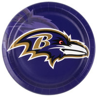 Creative Converting 429503 Baltimore Ravens 9 inch Paper Dinner Plate - 96/Case