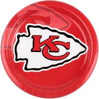 Creative Converting 429516 Kansas City Chiefs 9 inch Paper Dinner Plate - 96/Case