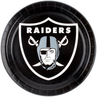 Creative Converting 429523 Oakland Raiders 9 inch Paper Dinner Plate - 96/Case