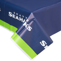 Creative Converting 729528 Seattle Seahawks 54 inch x 102 inch Plastic Table Cover - 12/Case