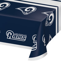 Creative Converting 335927 Los Angeles Rams 54 inch x 102 inch Plastic Table Cover - 12/Case