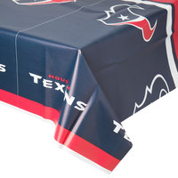 Creative Converting 729513 Houston Texans 54 inch x 102 inch Plastic Table Cover - 12/Case