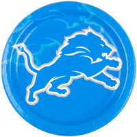 Creative Converting 429511 Detroit Lions 9 inch Paper Dinner Plate - 96/Case