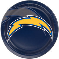 Creative Converting 429526 Los Angeles Chargers 9 inch Paper Dinner Plate - 96/Case