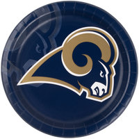 Creative Converting 429529 Los Angeles Rams 9 inch Paper Dinner Plate - 96/Case