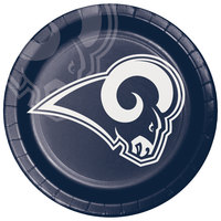 Creative Converting 335920 Los Angeles Rams 9 inch Paper Dinner Plate - 96/Case