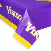 Creative Converting 729518 Minnesota Vikings 54 inch x 102 inch Plastic Table Cover - 12/Case