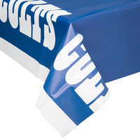 Creative Converting 729534 Indianapolis Colts 54 inch x 102 inch Plastic Table Cover - 12/Case