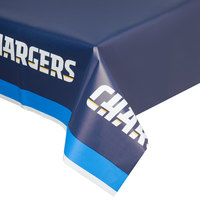 Creative Converting 729526 Los Angeles Chargers 54 inch x 102 inch Plastic Table Cover - 12/Case