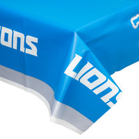 Creative Converting 729511 Detroit Lions 54 inch x 102 inch Plastic Table Cover - 12/Case