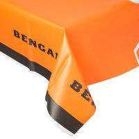 Creative Converting 729507 Cincinnati Bengals 54 inch x 102 inch Plastic Table Cover - 12/Case