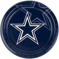 Creative Converting 429509 Dallas Cowboys 9 inch Paper Dinner Plate - 96/Case