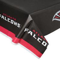 Creative Converting 729502 Atlanta Falcons 54 inch x 102 inch Plastic Table Cover - 12/Case
