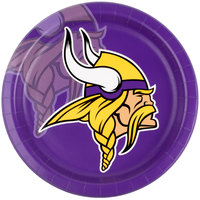 Creative Converting 429518 Minnesota Vikings 9 inch Paper Dinner Plate - 96/Case