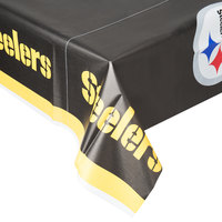 Creative Converting 729525 Pittsburgh Steelers 54 inch x 102 inch Plastic Table Cover - 12/Case
