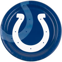 Creative Converting 429534 Indianapolis Colts 9 inch Paper Dinner Plate - 96/Case