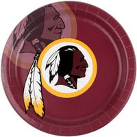 Creative Converting 335922 Washington Redskins 9 inch Paper Dinner Plate - 96/Case
