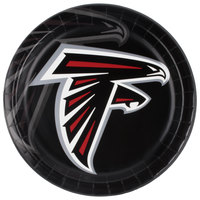 Creative Converting 429502 Atlanta Falcons 9 inch Paper Dinner Plate - 96/Case