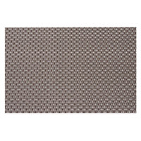 Snap Drape PMPISA005 Cityscape 16 inch x 12 inch Pisa Brown PVC Placemat - 12/Pack