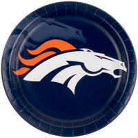Creative Converting 429510 Denver Broncos 9 inch Paper Dinner Plate - 96/Case