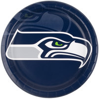 Creative Converting 429528 Seattle Seahawks 9 inch Paper Dinner Plate - 96/Case
