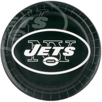 Creative Converting 429522 New York Jets 9 inch Paper Dinner Plate - 96/Case