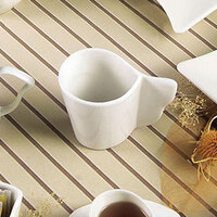 CAC SOH-1 Soho 7.5 oz. American White (Ivory / Eggshell) Stoneware Coffee Cup - 36 / Case