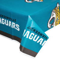 Creative Converting 729515 Jacksonville Jaguars 54 inch x 102 inch Plastic Table Cover - 12/Case