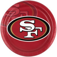 Creative Converting 429527 San Francisco 49ers 9 inch Paper Dinner Plate - 96/Case