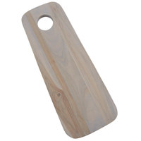 American Metalcraft TWB14 14 1/2 inch x 5 3/4 inch Teak Wood Oblong Serving Board