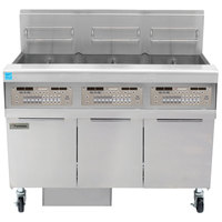 Frymaster FPPH355 Liquid Propane 150 lb. 3 Unit High-Efficiency Gas Floor Fryer System with SMART4U 3000 Controls - 240,000 BTU