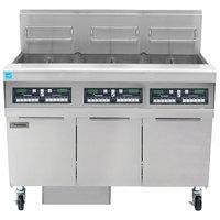 Frymaster FPPH355 Liquid Propane 150 lb. 3 Unit High-Efficiency Gas Floor Fryer System with CM3.5 Controls - 240,000 BTU