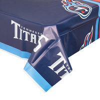 Creative Converting 729531 Tennessee Titans 54 inch x 102 inch Plastic Table Cover - 12/Case