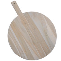 American Metalcraft TWP15 15 1/2 inch Teak Wood Round Serving Peel