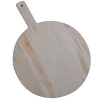 American Metalcraft TWP13 13 1/2 inch Teak Wood Round Serving Peel