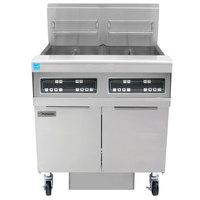 Frymaster FPPH255 Natural Gas 100 lb. 2 Unit High-Efficiency Gas Floor Fryer System with Digital Controls - 160,000 BTU