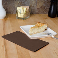 Chocolate Brown Paper Dinner Napkins, 2-Ply, 15 inch x 17 inch - Hoffmaster 180554 - 125/Pack