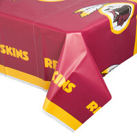Creative Converting 729532 Washington Redskins 54 inch x 102 inch Plastic Table Cover - 12/Case