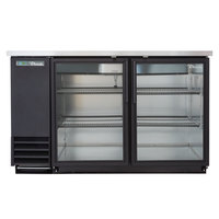 True TBB-2G-HC-LD 59 inch Glass Door Back Bar Refrigerator with LED Lighting