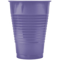 Creative Converting 28115071 12 oz. Purple Plastic Cup   - 20/Pack