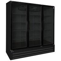 Master-Bilt BLG-74-HGP 78 inch Black Glass Door Merchandiser Freezer