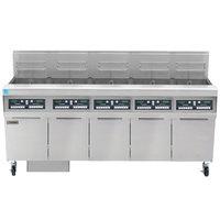 Frymaster FPPH555 Liquid Propane 250 lb. 5 Unit High-Efficiency Gas Floor Fryer System with CM3.5 Controls - 400,000 BTU