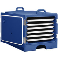 Cambro 1826MTC186 Camcarrier Navy Blue Front Loading Insulated Tray / Sheet Pan Carrier for Full Size Pans