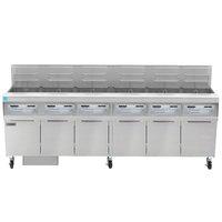Frymaster FPPH655 Natural Gas 300 lb. 6 Unit High-Efficiency Gas Floor Fryer System with SMART4U 3000 Controls - 480,000 BTU