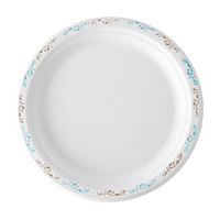 "Huhtamaki Chinet 22523 9 3/4"" Molded Fiber Round Plate with Vine Design - 500/Case"