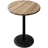 Holland Bar Stool OD214-2242BWOD30RNat 30 inch Round Natural Outdoor / Indoor Bar Height Table with Round Base