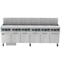 Frymaster FPPH655 Natural Gas 300 lb. 6 Unit High-Efficiency Gas Floor Fryer System with Digital Controls - 480,000 BTU