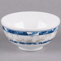 Thunder Group 3004DL Blue Dragon 12 oz. Round Melamine Rice Bowl - 12/Case