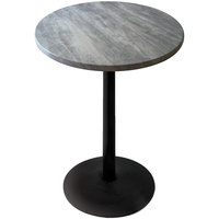 Holland Bar Stool OD214-2230BWOD30RGryStn 30 inch Round Greystone Outdoor / Indoor Standard Height Table with Round Base