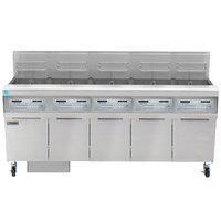 Frymaster FPPH555 Natural Gas 250 lb. 5 Unit High-Efficiency Gas Floor Fryer System with SMART4U 3000 Controls - 400,000 BTU
